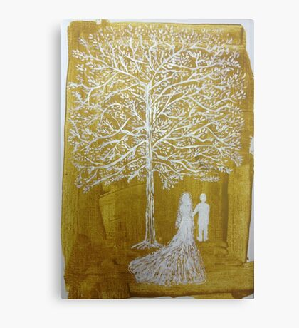 White Wedding Canvas Print