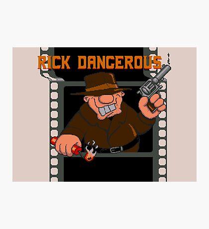 Rick Dangerous Title  Photographic Print
