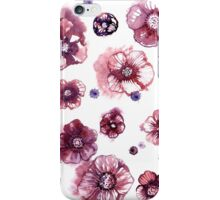 Watercolor flowers on white background.  iPhone Case/Skin