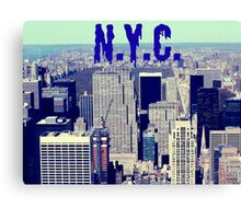 N.Y., empire state building Canvas Print