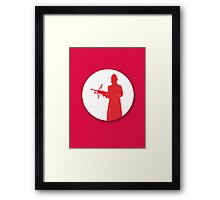 Slayer silhouette Framed Print