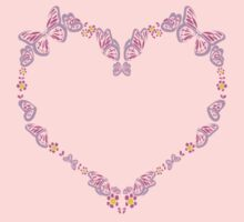 Butterfly Heart Tee Baby Tee