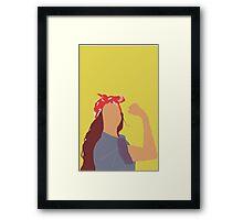 Beyonce as Rosie the Riveter Framed Print
