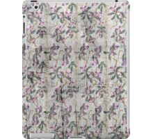 Grunge vintage floral retro design pattern old print background iPad Case/Skin