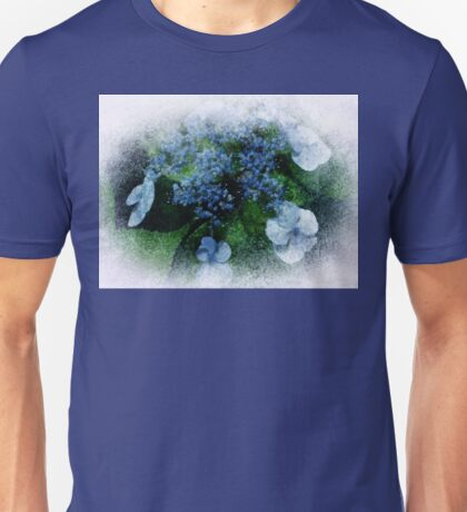 Blue Hydrangea - Watercolor effect Unisex T-Shirt