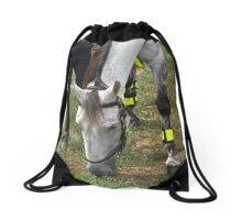 Police horse Drawstring Bag