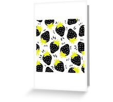 electric strawberries Greeting Card