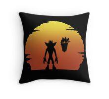 Crash on Sunset Throw Pillow