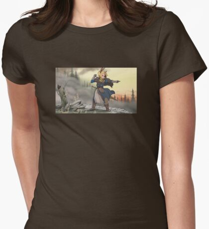 Warbird in the Burning Peaks Womens Fitted T-Shirt