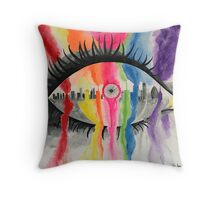 London Eye Colour Throw Pillow