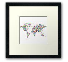 World full of love Framed Print