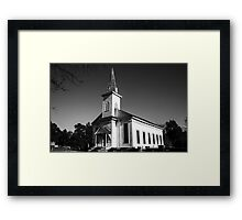 Church Side View Black and White Framed Print
