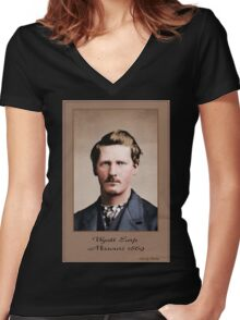 Young Wyatt Earp Women's Fitted V-Neck T-Shirt