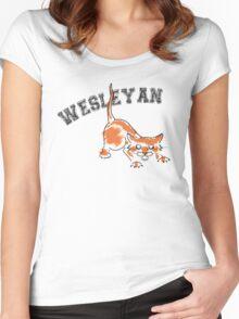 Wesleyan Bobcat Women's Fitted Scoop T-Shirt
