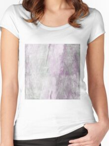 Purple Haze Abstract Women's Fitted Scoop T-Shirt