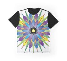 Colorful Psycho Flower Graphic T-Shirt