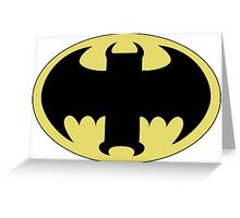 The Bat Symbol from Venture Bros. Greeting Card