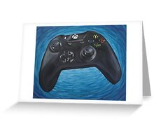 Blue Impressionist XBOX One Controller Greeting Card