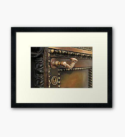 ancient  door closes Framed Print