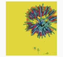 Striking Red and Blue Fireworks One Piece - Long Sleeve