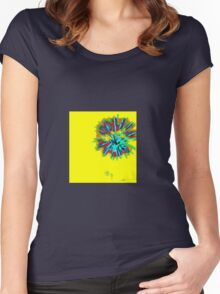 Striking Red and Blue Fireworks Women's Fitted Scoop T-Shirt