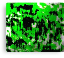 Neon Fractures Abstract Canvas Print