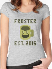 Froster - Est. 2015 (Coffee & Laser Beams 1 Year Anniversary) Women's Fitted Scoop T-Shirt