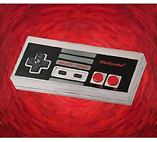 Red Impressionist Nintendo NES Controller Photographic Print