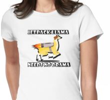 Jetpack Llama Needs No Drama Womens Fitted T-Shirt