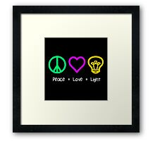 Peace, Love, and Light Framed Print