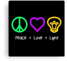 Peace, Love, and Light Canvas Print