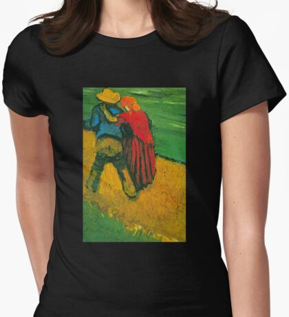 'Two Lovers' by Vincent Van Gogh (Reproduction) Womens Fitted T-Shirt