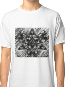 Majestic Scribble Symmetrical Abstract Classic T-Shirt