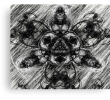 Majestic Scribble Symmetrical Abstract Canvas Print