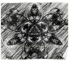 Majestic Scribble Symmetrical Abstract Poster