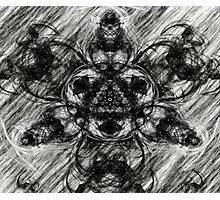 Majestic Scribble Symmetrical Abstract Photographic Print