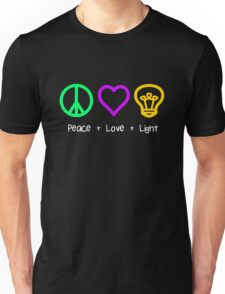Peace, Love, and Light Unisex T-Shirt