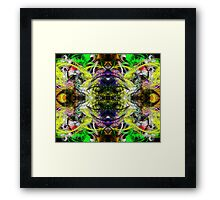 Symmetry Of Colour Abstract Framed Print