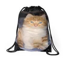 baby gizmo  kitten cleaning Drawstring Bag