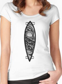 Longboard T Shirt Women's Fitted Scoop T-Shirt