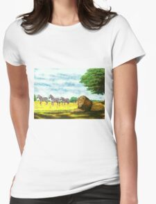 Zebra Crossing Womens Fitted T-Shirt