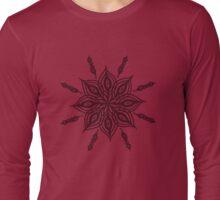 mandala floral ink design Long Sleeve T-Shirt
