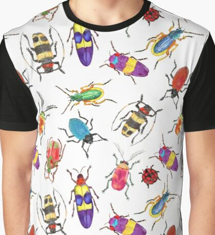 Seamless pattern with watercolor bugs, beetles Graphic T-Shirt