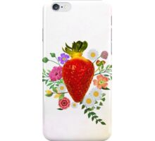 Blooming Strawberry iPhone Case/Skin