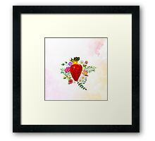 Blooming Strawberry Framed Print