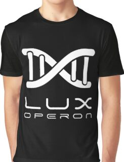 Lux Helix-White on Black Graphic T-Shirt