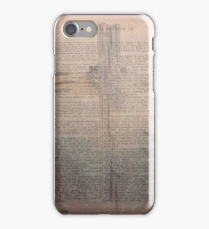 A bible rose forest and cross mix iPhone Case/Skin