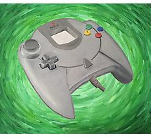 Green Impressionist Dreamcast Controller Photographic Print