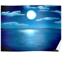 Moon on the sea.. Poster