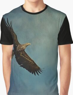 Young Bald Eagle Soaring in the Sky Graphic T-Shirt